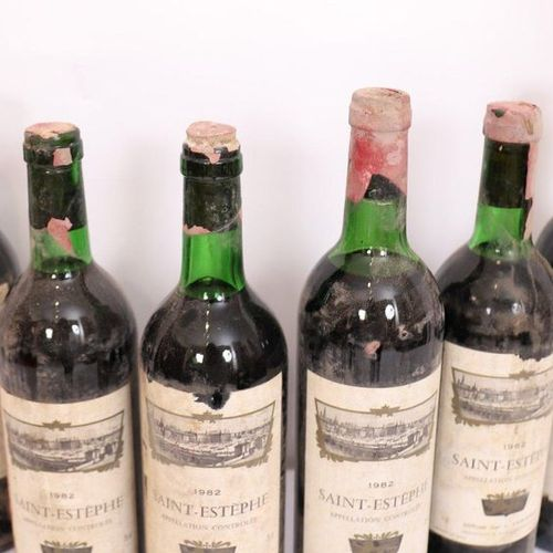 "LOT 6 BTES ""SAINT ESTEPHE"" 1984  Levels slightly low and high shoulder."
