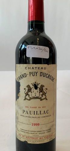 "1 BOX ""CHÂTEAU GRAND PUY DUCASSE"" GRAND CRU CLASS 1999  Half neck level"