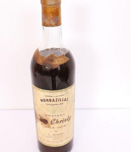"""1 BOX MONBAZILLAC """"CHÂTEAU LE CHRISLY VIEUX CEPS"""" 1947"""