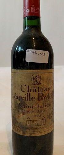 """3 BTES """"CHÂTEAU LEOVILLE POYEFORRE"""" SAINT JULIEN 1992  Low level neck"""