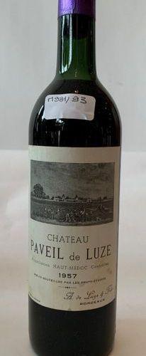 5 BTES CHÂTEAU PAVEIL DELUZE Haut Médoc 1957  High shoulder level