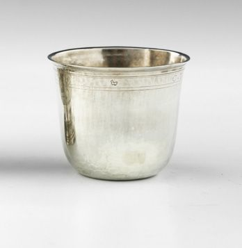 Gobelet dit curon en argent. Paris 1733 1734 Maître Orfèvre : Maurice Meunier, r…