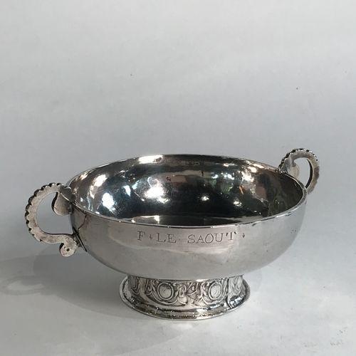 Coupe de mariage en argent. Morlaix 1753. Maître.Orfèvre : Denis Lachèse, reçu e…