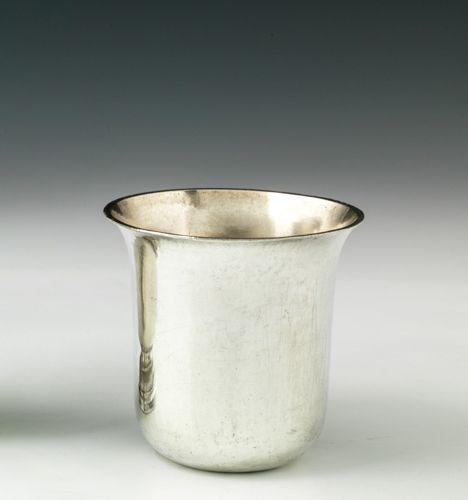 Gobelet dit curon en argent. Cholet, après 1777. Maître Orfèvre : Jean Roffay, p…