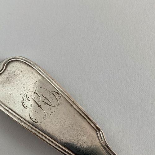 Cuillère à ragoût en argent. Paris 1776 1777 Maître Orfèvre : Claude Auguste Aub…