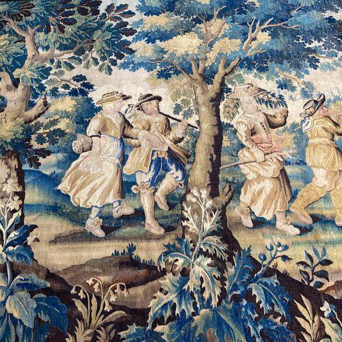 Importante tapisserie en laine et soie, Felletin (région d'Aubusson), fin du XVI…
