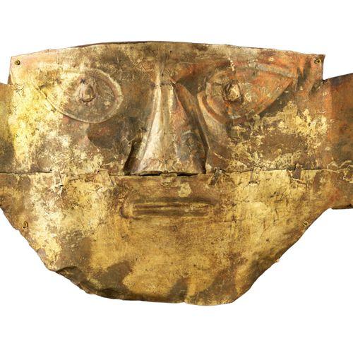 Culture Lambayaque, Sipan Pérou, 700 900 apr. JC Masque funéraire Or martelé, en…
