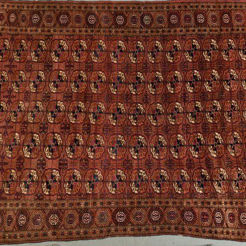 Important et très fin Tekke Boukhara, Turkmen, fin du XIXe siècle. Velours en la…
