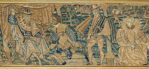 Panneau de tapisserie au petit point , Audenarde, Flandres, milieu du XVIe siècl…