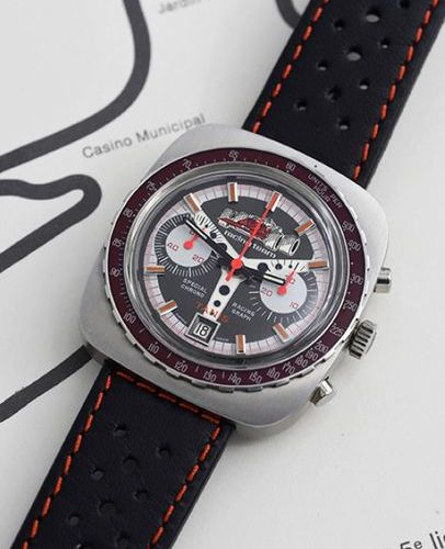 TANIS TANIS (Chronographe pilote / Racing Team Trotteuses rouges), vers 1975  Ch…