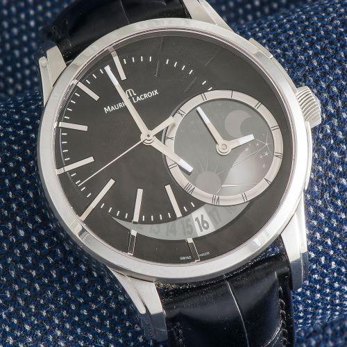 MAURICE LACROIX, vers 2011 Montre GMT Pontos Decentrique référence PT6118 SS001 …
