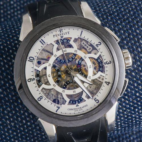 PERRELET vers 2011 Chronographe Squelette référence A1056/1 en acier et acier tr…