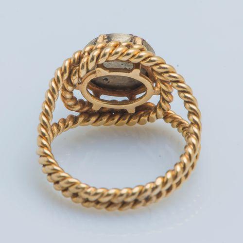 Bague Bague en or jaune 18 carats (750 ‰) et argent (850 ‰) formant un double jo…