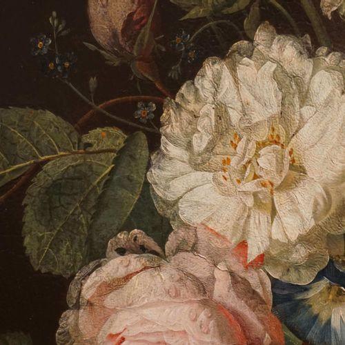 """FREDRIKS Johannes Hendrik Oil on panel signed J. H. Fredriks """"Bouquet of flowers…"""