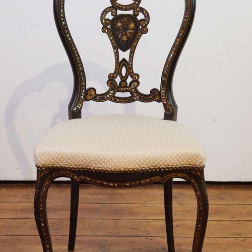 黑化木和珍珠母镶嵌音乐椅