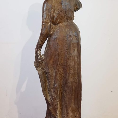 """Sculpture en plâtre """"Elégante"""". H : 123 cm"""