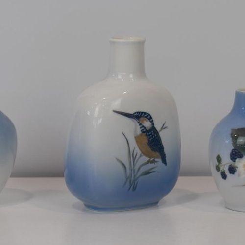 Three small vases in Royal Copenhagen