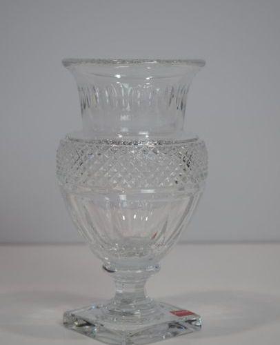 BACCARAT A cut crystal pedestal vase H: 19
