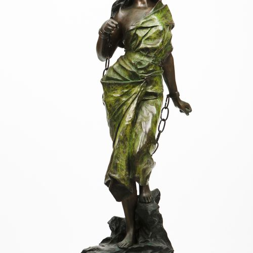 "Emmanuel VILLANIS (1858 1914) ""Liberté"" Patinated metal sculpture  Signed  With …"