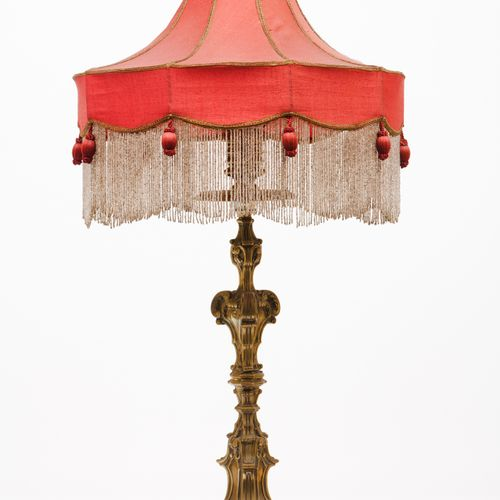 A D.José style lamp Gilt bronze  Floral, scrolls and shell motifs chiselled deco…