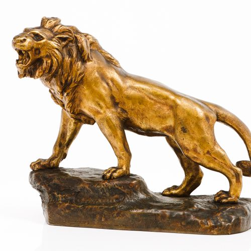 "George TRINQUE (c.1844 1930) A lion Patinated bronze sculpture  Signed ""G. Trinq…"