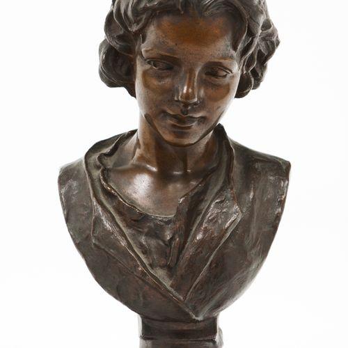 "António Soares dos Reis (1847 1889) ""Flor Agreste"" Patinated bronze sculpture  S…"