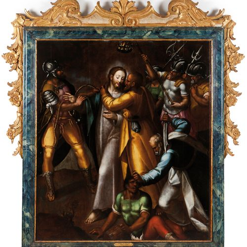 Simão Rodrigues (c. 1560 1629) The kiss of Judas Oil on panel  (restoration) SIM…