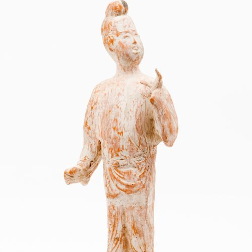 A dignitary Terracotta sculpture depicting a court dignitary  Evidence of painte…