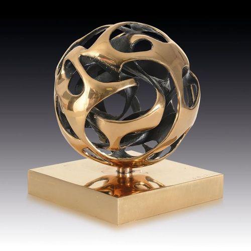 MEGGIATO GIANFRANCO [Venezia 1963] Sfera energia, 2008 bronze sculpture, diamete…