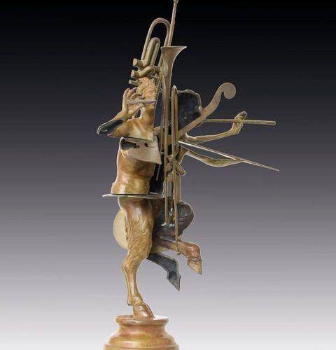 ARMAN FERNANDEZ [Nizza 17/11/1928 New York 22/10/2005] Faune au violon et trompe…
