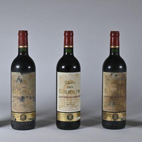 5 B CLOS DES MENUTS (4 e.T.A. With 2 supposedly illegible vintages) GC Saint Emi…