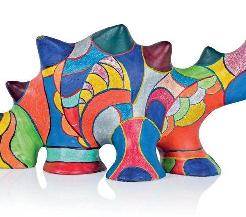Niki de Saint Phalle (1930 2002) Dragon, circa 1980 Sculpture en résine peinte à…