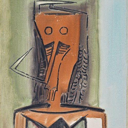 Wifredo LAM (1902 1982) Figure, 1972 Huile sur toile, signée et datée en bas au …