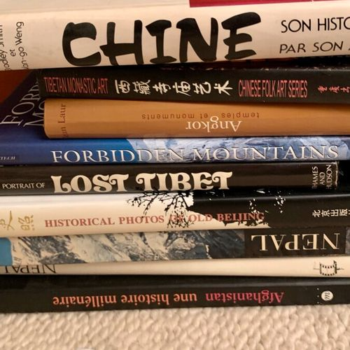 Set of art books on Cambodia, Nepal, China, Central Asia, Tibet, Afghanistan, Ja…