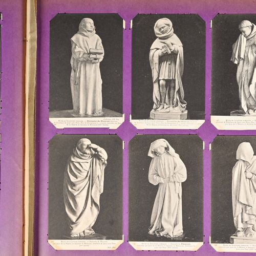 "ALBUM DE CARTES POSTALES in black and white, ""Treasures of the Gothic Cathedrals…"