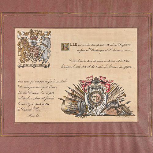 France Facsimilé d'un extrait de Michelet commandé en 1957 par l'Amiral Ortoli p…