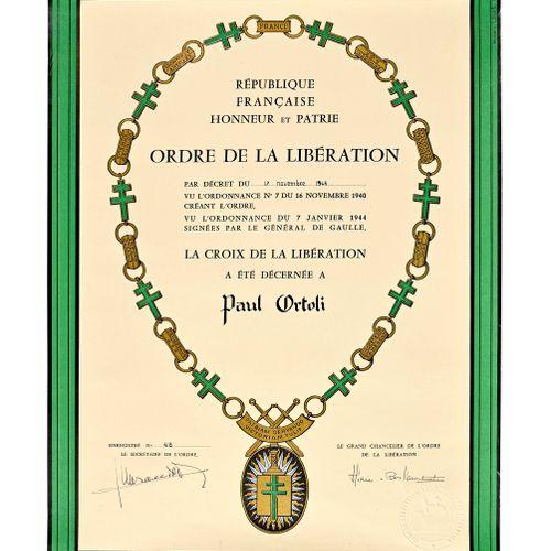 France Diplôme de Croix de Compagnon de la Libération  Diplôme du troisième modè…