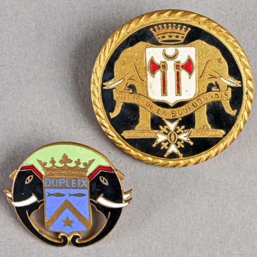 France Lot de deux insignes marine Duplex et Mahé de la bourdenais  En métal et …