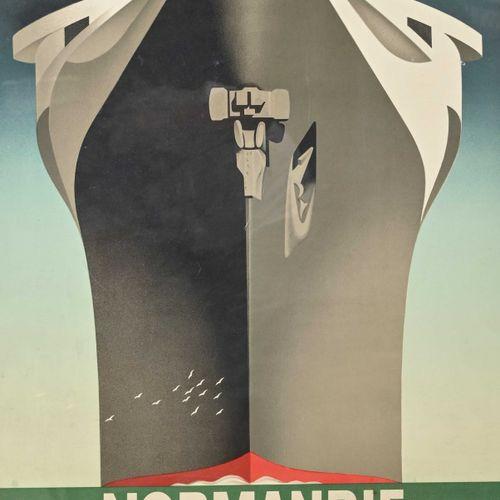 A.M.CASSANDRE Adolphe Mouron CASSANDRE (1901 1968) Le Normandie, Voyage Inaugura…