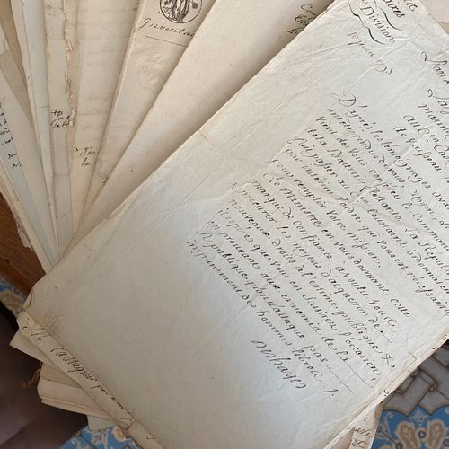 [Famille Castaignier] Importante archive relative à la carrière de marins d'une …