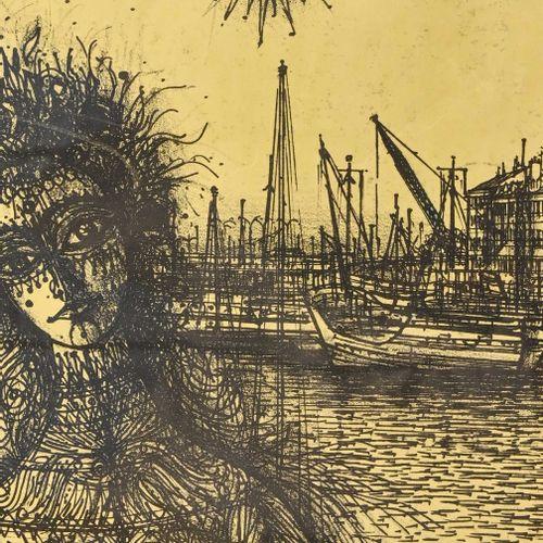 D'après Jean CARZOU (1907 2000) Femme au soleil  Lithographie  H. 24 cm L. 18 cm