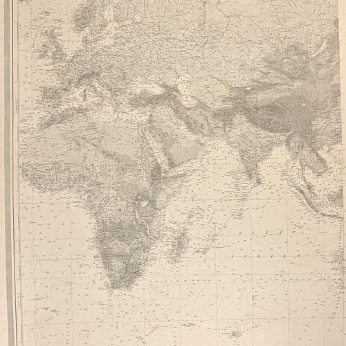 France Fort lot de cartes maritimes époque guerre d'Indochine  Très grands forma…