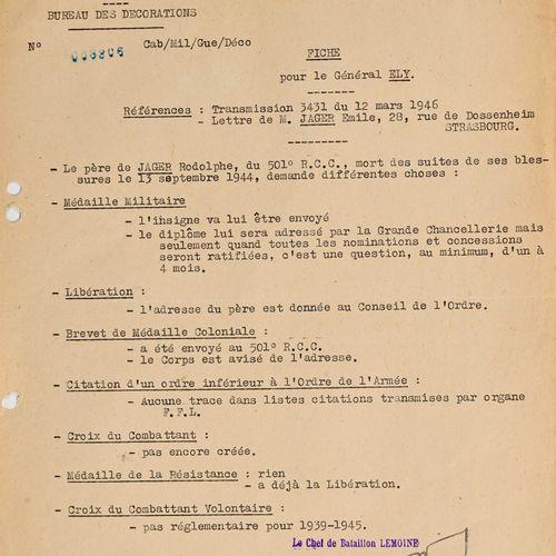 France Communication au sujet des décorations de Rodolphe Jager, compagnon de la…