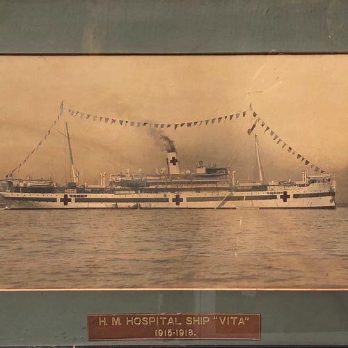 HM HOSPITAL SCHIP (VITA) 1915 1918 Tirage argentique réhaussé, encadré  A vue H.…