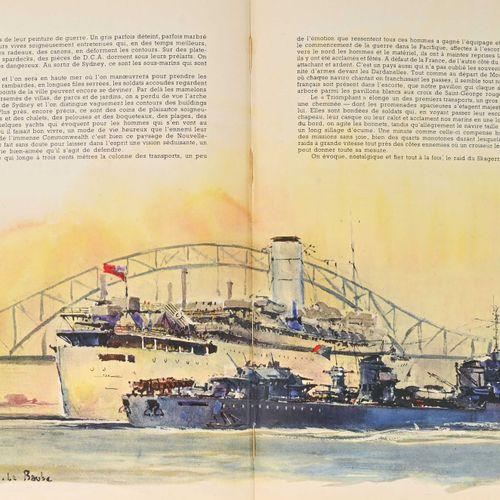 France Livre « Aux postes de combat » daté 1945, préface par l'amiral Ortoli