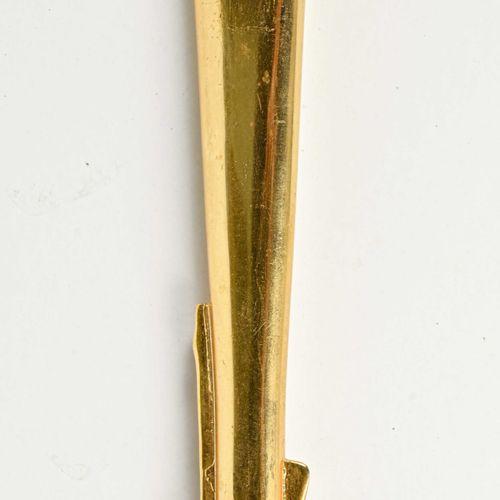 France Sabre d'officier de la IIIème République  Monture bronze doré une branche…
