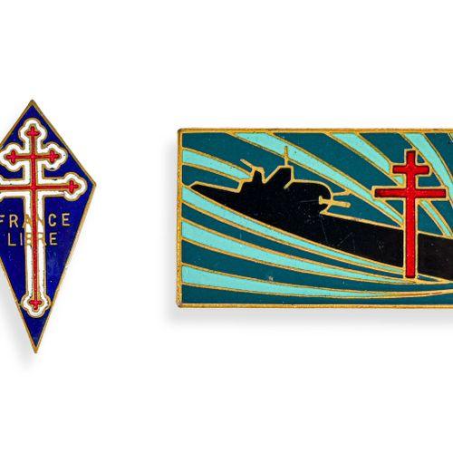 France Insigne sous marin Surcouf de l'Amiral Ortoli numéroté 1  Fabrication Lon…
