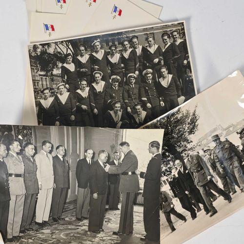 France Fort lot de photos ( certaines retirages ) papiers au chiffre de l'amiral…