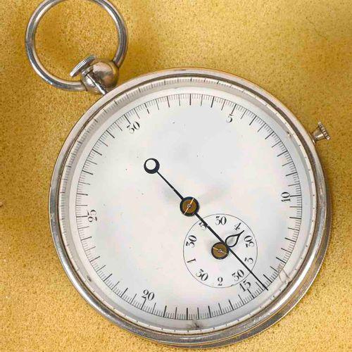 Chronomètre de départ de régate en acier D. 6 cm  Petit accident au cadran et us…