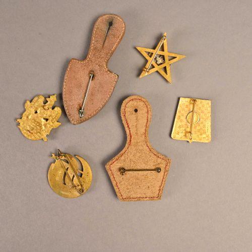 France Lot d'insignes de cavalerie  En métal et émail, différents fabricants, ép…